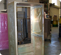 Welded Navy cabinet certified to 901D specification